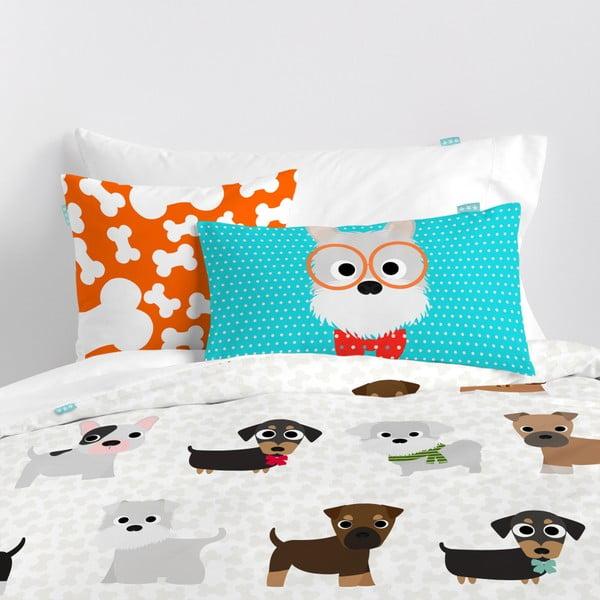 Dziecięca pościel bawełniana z poszewką na poduszkę Mr. Fox Dogs, 140x200 cm