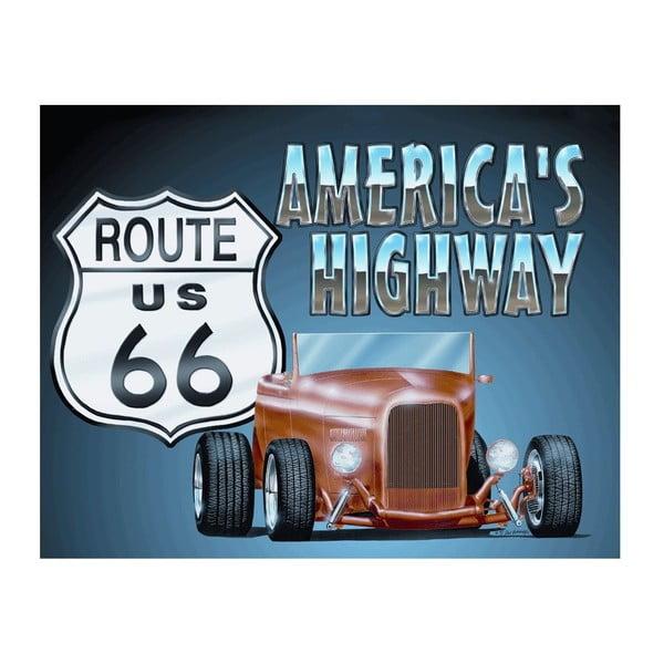 Blaszana tabliczka America´s Highway, 30x40 cm