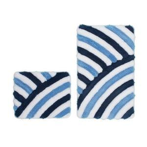 Zestaw 2 dywaników łazienkowych Lobby Blue