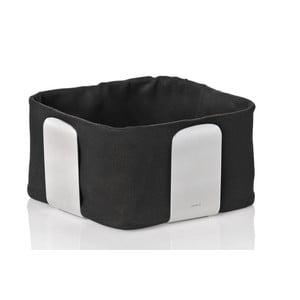 Koszyk na pieczywo z czarną wkładką bawełnianą Blomus Desa, szer.19,5cm