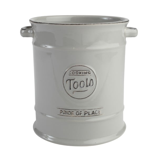 Szary pojemnik ceramiczny na przybory kuchenne Pride of Place