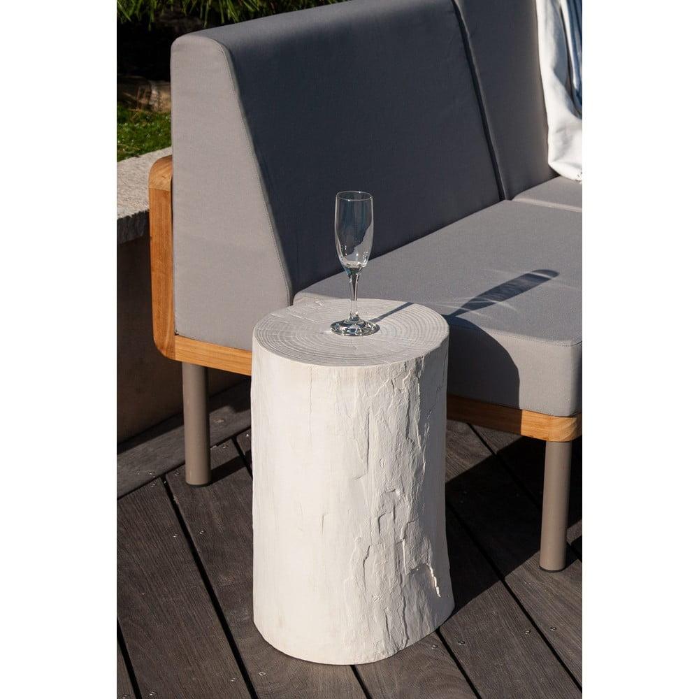 Biały stolik ogrodowy Ezeis Ecotop, ⌀ 35 cm