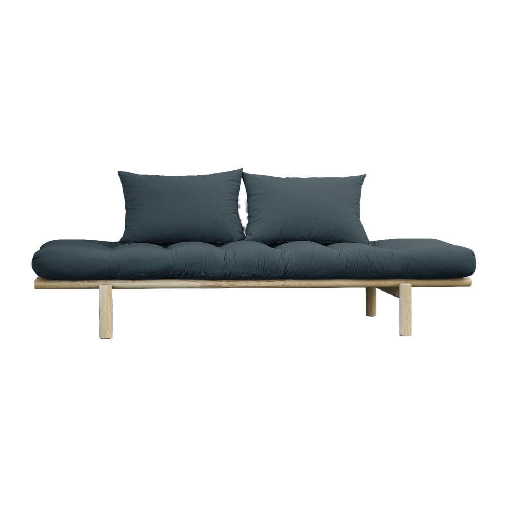 Sofa z niebieskozielonym obiciem Karup Design Pace Natural/Petrol Blue