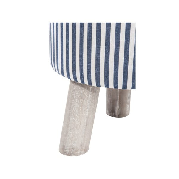 Taboret 3Leg Blue and White