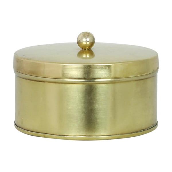 Zestaw 2 blaszanych pojemników Brass