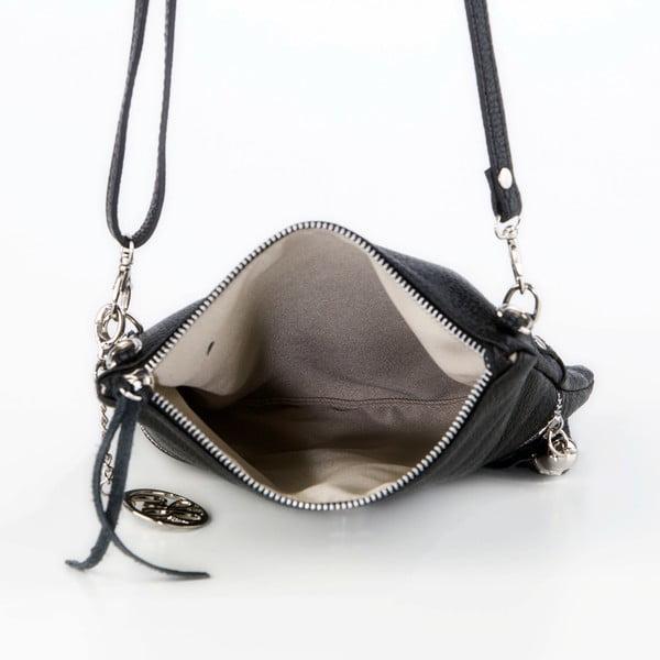 Skórzana torebka Roberto, czarna