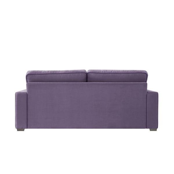 Sofa trzyosobowa Jalouse Maison Serena, fioletowa