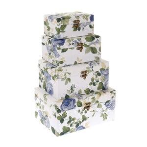Zestaw 4 pudełek Blue Roses