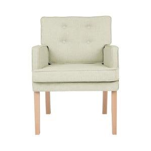 Kremowy fotel z podłokietnikami Micadoni Home Mista