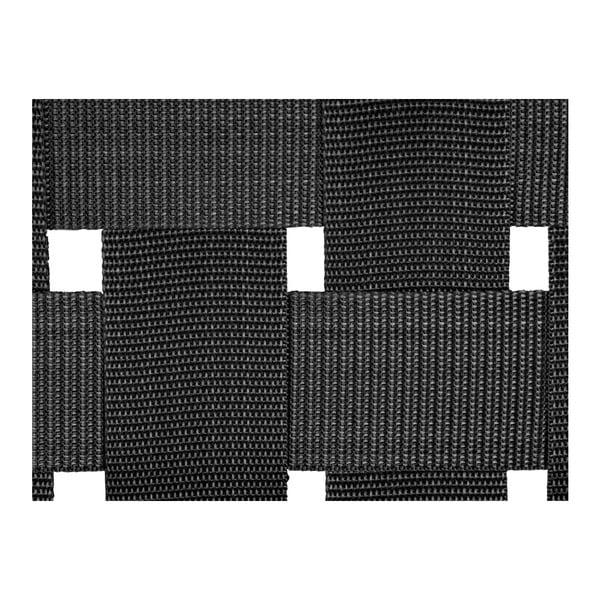 Czarna ławka z drewna akacjowego z nylonowym obiciem Karlsson Weave