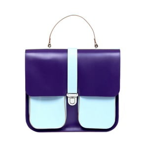 Skórzana torebka Onslow Purple/Blue