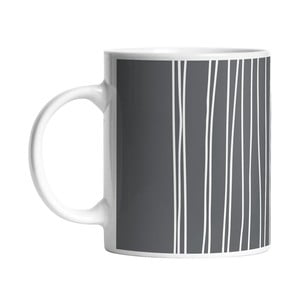 Kubek Black Shake White Stripes in Grey, 330 ml