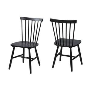 Czarne krzesło Actona Riano