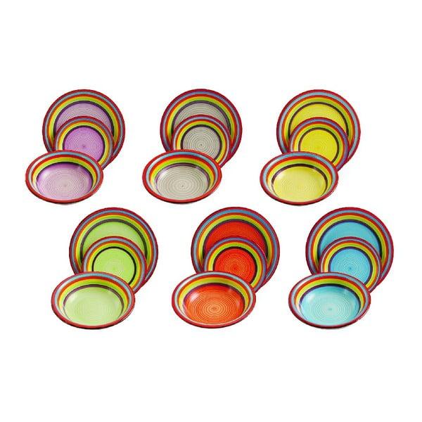 Zestaw talerzy Sombrero, 18 sztuk