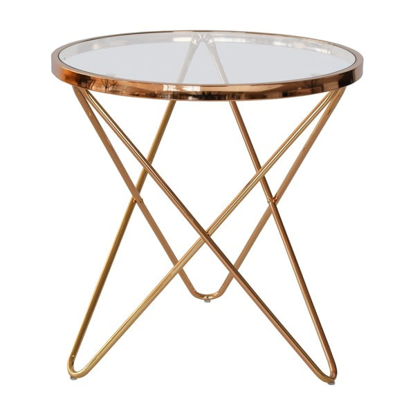 Szklany stolik RGE Melissa, Ø 54,5cm