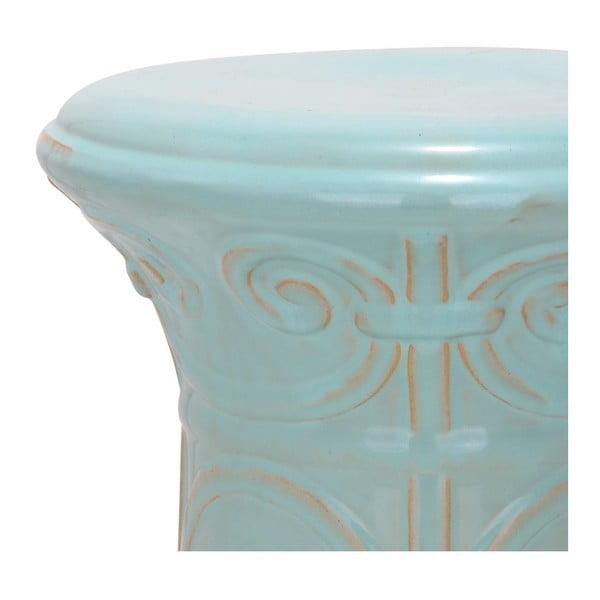 Turkusowy stolik porcelanowy Safavieh Imperial Scroll Light Aqua