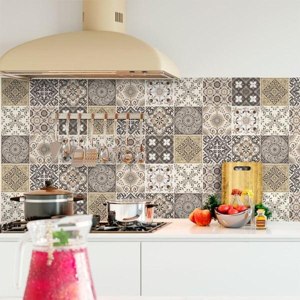 Zestaw 9 samoprzylepnych naklejek Ambiance Cement Tiles Ancona, 10x10 cm
