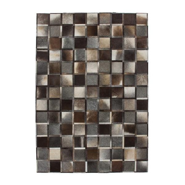 Szaro-brązowy skórzany dywan Eclipse, 160x230cm