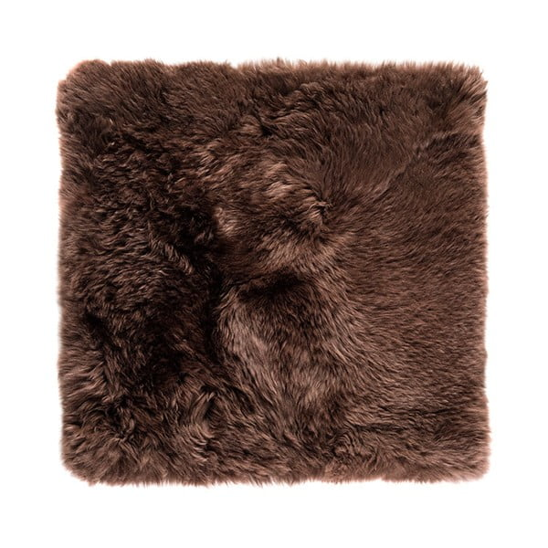Brązowy dywan kwadratowy z owczej wełny Royal Dream Zealand