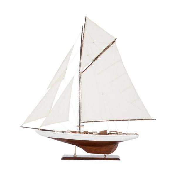 Dekoracja: statek Sail Boat White, 103 cm