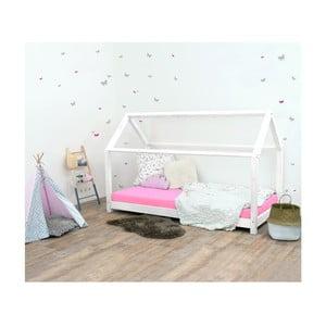 Białe łóżko dziecięce z drewna świerkowego Benlemi Tery, 80x200 cm
