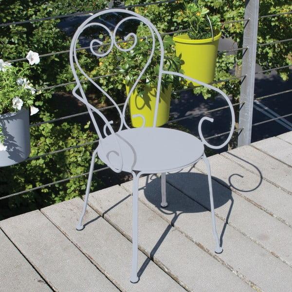 Szare krzesło balkonowe Esschert Design Nature