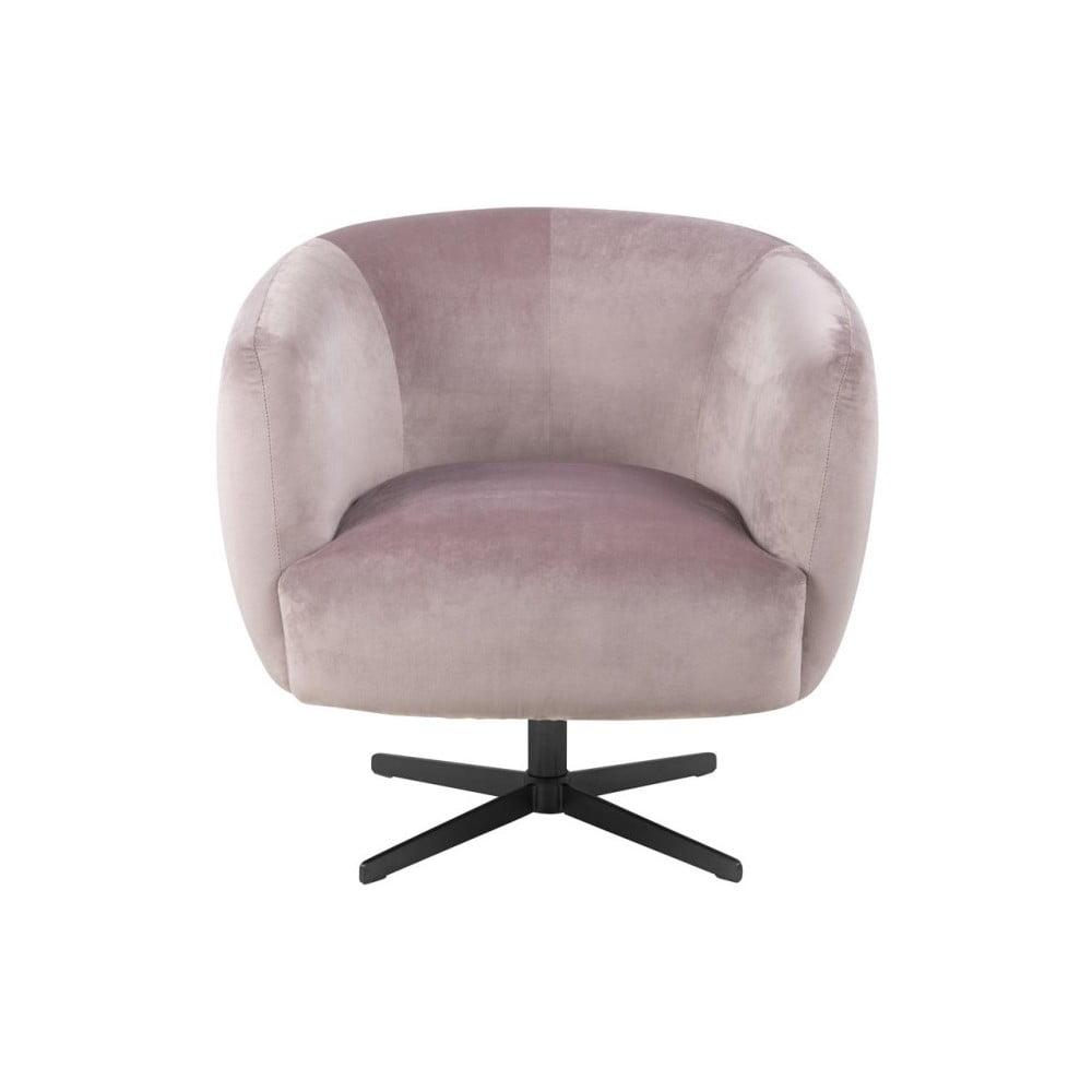 Jasnoróżowy fotel Actona Auburn