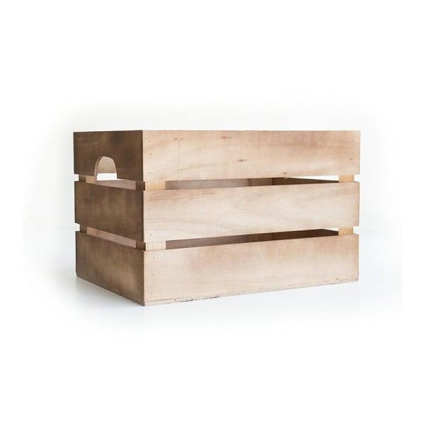 Rustykalna skrzynka drewniana Really Nice Things Marron