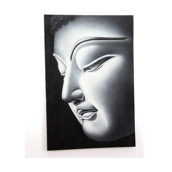 Obraz na drewnie Right Buddha, 60x90 cm