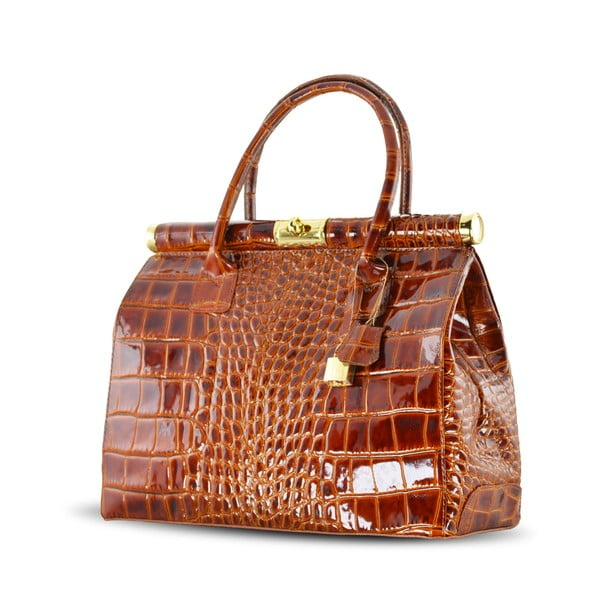 Skórzana torebka Justine, cognac