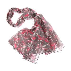 Szalik Mayfly Dark Pink, 180x70 cm