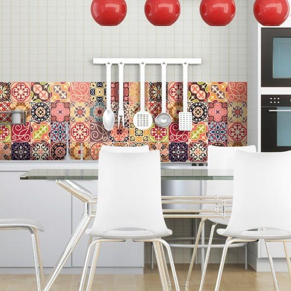 Zestaw 30 samoprzylepnych naklejek Ambiance Cement Tiles La Valette, 10x10 cm
