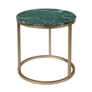 Okrągły stolik z marmurowym blatem