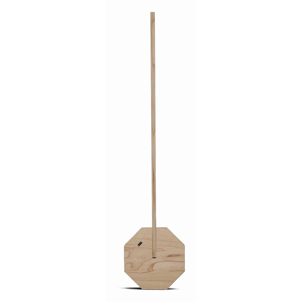 Jasnobrązowa lampa stołowa w dekorze drewna klonowego Gingko Octagon