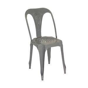 Metalowe krzesło retro Sofian, szare
