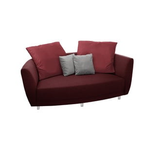 Sofa dwuosobowa Viotti Red/Light Grey
