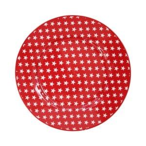 Talerz deserowy Krasilnikoff Stars Red