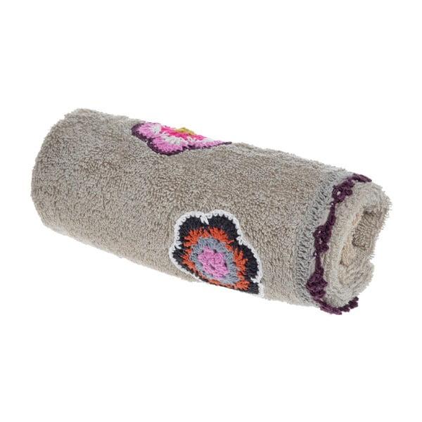 Ręcznik Flower Power, szary