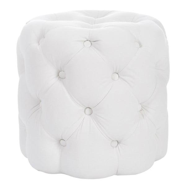 Biały puf J-Line Hassock Button
