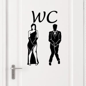 Naklejka na drzwi Ambiance Man Woman