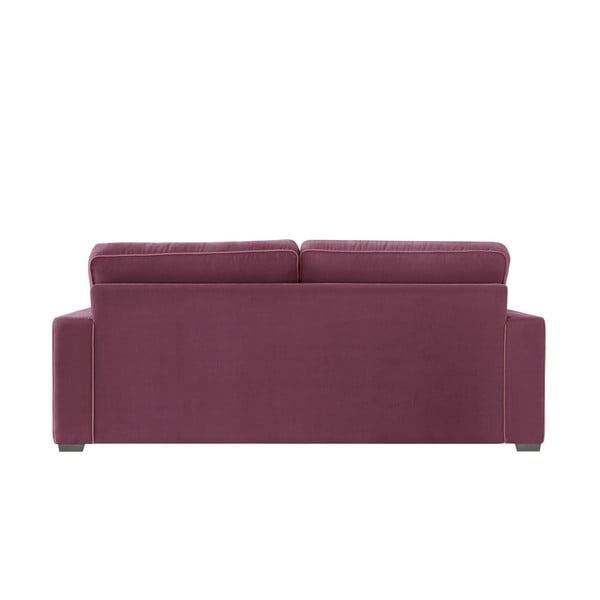 Sofa trzyosobowa Jalouse Maison Serena, bordowa