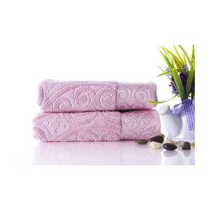Zestaw 2 ręczników Hanzade Pink, 50x90 cm