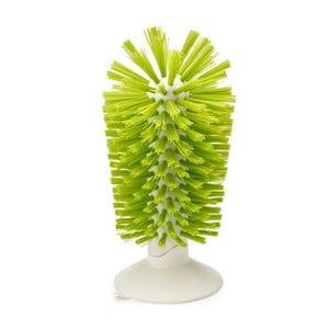 Zielona szczotka do mycia szklanek z przyssawką Joseph Joseph Brush-up