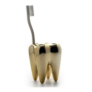 Stojak na szczoteczki Tooth, złoty