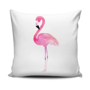 Poduszka Home de Bleu Painted Flamingo, 43x43 cm