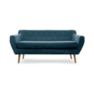 Sofa trzyosobowa VIVONITA Kelly Marine Blue, naturalne nogi