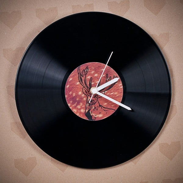 Winylowy zegar Jeleń