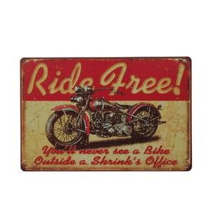 Tablica Ride Free, 20x30 cm