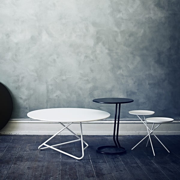 Biały stół Softline Tribeca, 90 cm
