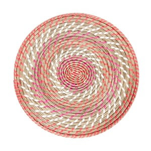 Mata stołowa Reed Coral, 39x39x2 cm